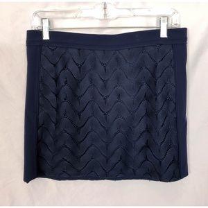 Diane Von Furstenberg Mini Skirt Overlay Jacquard